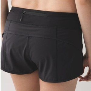 "Lululemon Speed Short *4-way Stretch 2.5"" Black"